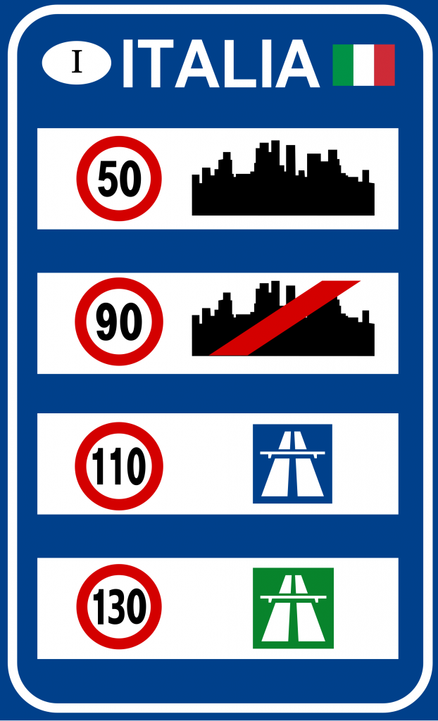 Italian speed limits