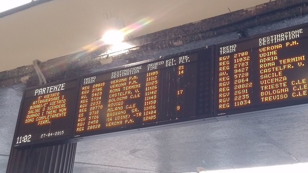 Train information in Italy