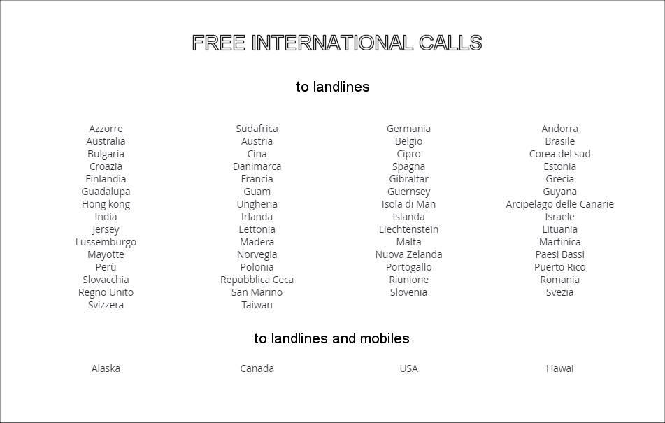 free calls by iliad in Italy