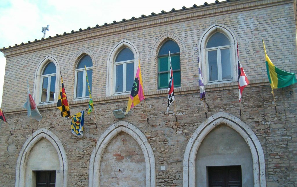 Flags of Fermo, Marche, Italy for art-lovers