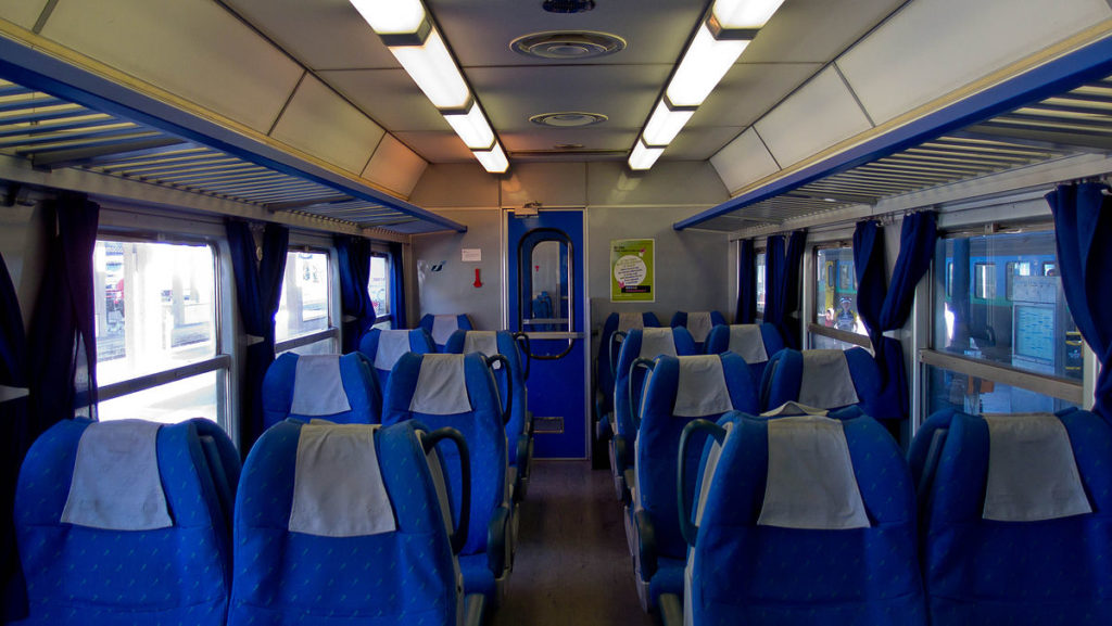 Interior italian Railways Train