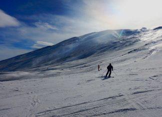 Skiing Etna Italy