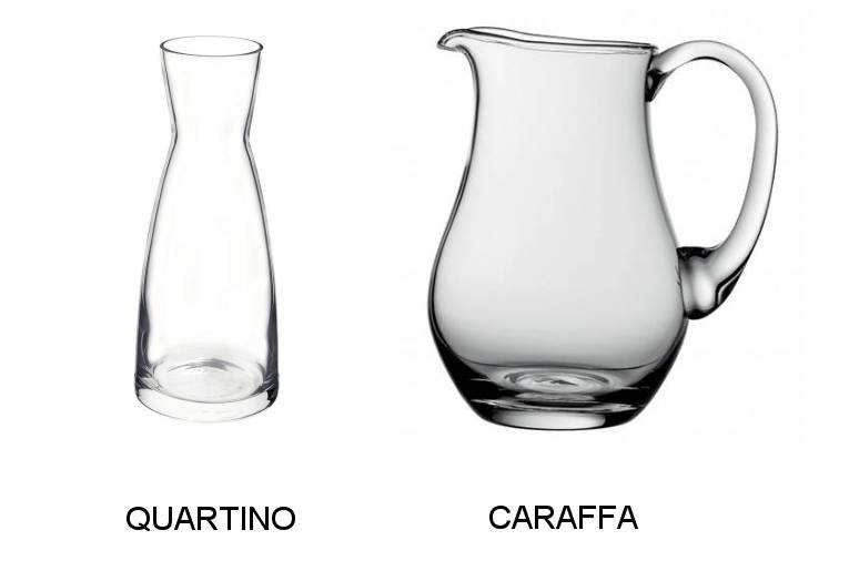 italian quartino and caraffa