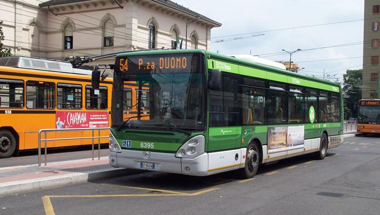 Bus in Milan