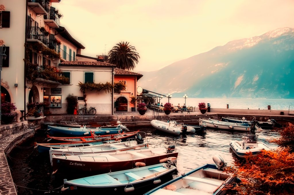 Lake, Garda, Lombardy, Italy Lakeside