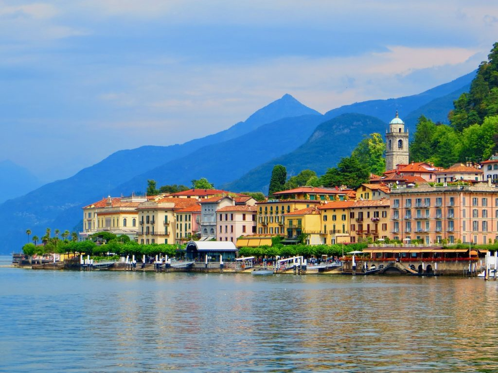 Lake, Como, Lombardy, Italy Lakeside