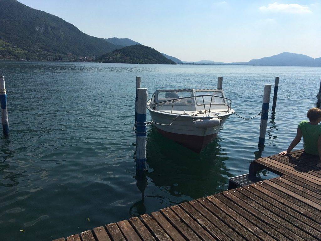 Lake, Iseo, Lombardy, Italy Lakeside