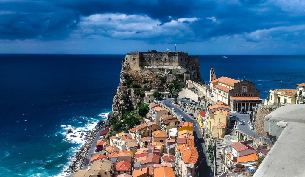 Sea, Calabria, Italy