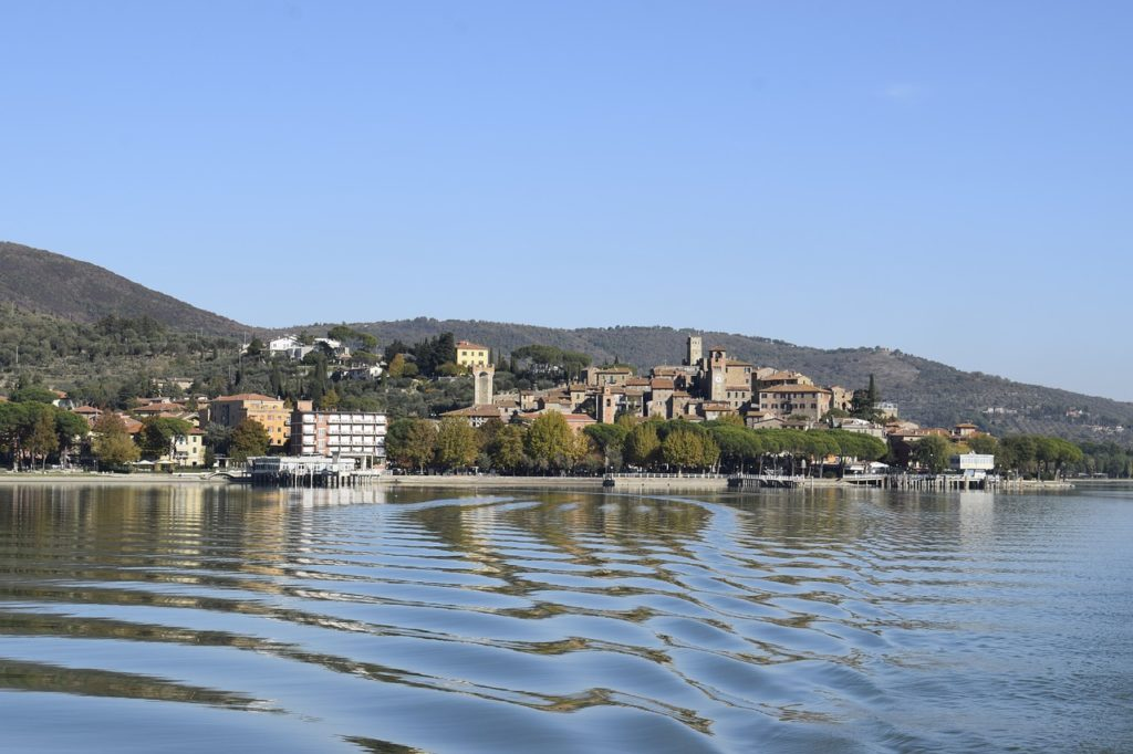 Lake Trasimeno, Umbria, Italy lakeside