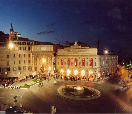 Macerata piazza liberta Marches, Italy