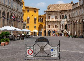 Piazza del Popolo, Fermo, Marches, Italy