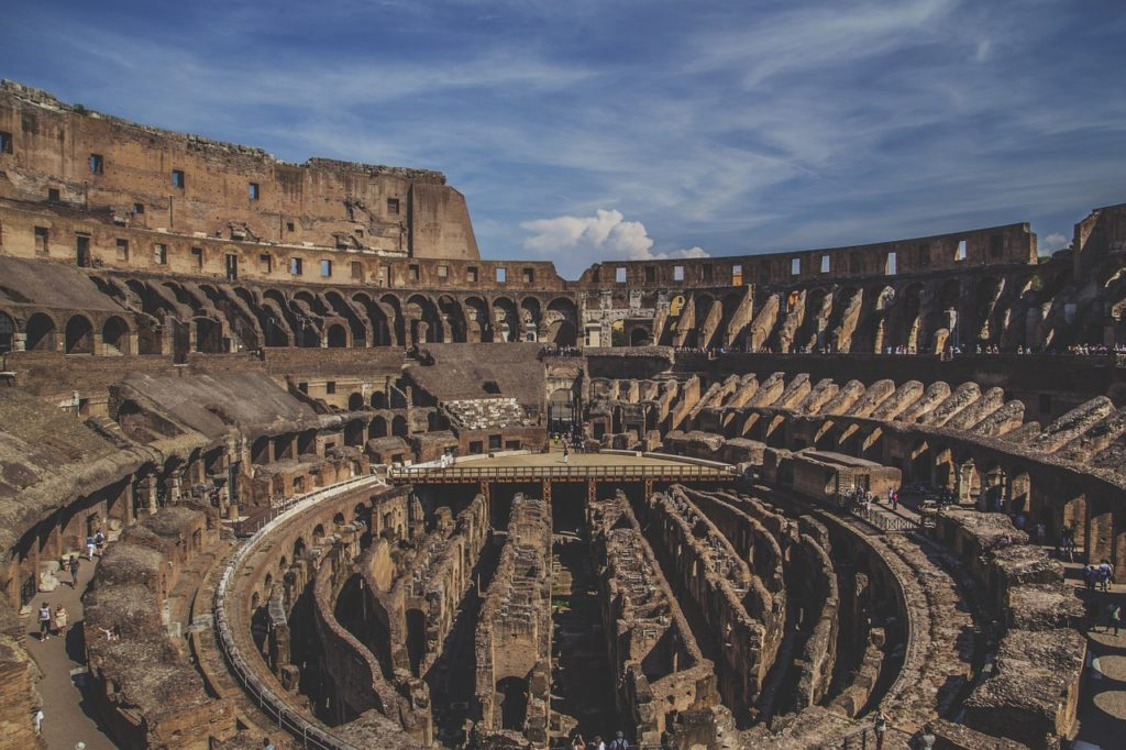 interior of Colosseum, Rome, Lazio, Italy