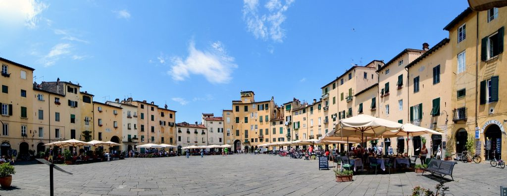 Central Italian City - Piazza dell'Anfiteatro, Lucca, Tuscany